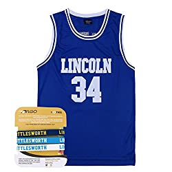 AFLGO Jesus Shuttlesworth 34 Lincoln High School Basketball Jersey Include Set Wristbands S-XXL