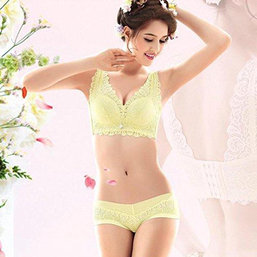 Heart&M Soutien-gorge de deux pièces de lingerie femme sans jantes et sous-vêtements , green , 80a