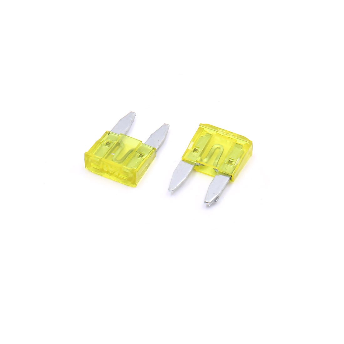 uxcell 200pcs 20A Yellow Plastic Case Small Blade Style Fuse for Car Vehicle Motorcycle a17061500ux0767