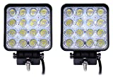 Topautolight 2Pcs 48W Epistar LED Work Lights Flood Offroad Driving Fog Lamp for Truck car 4X4 Tractor ATV Jeep Flood Beam 12V 24V