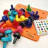 Skoolzy Toddler Learning Toys - Stacking Peg