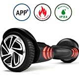 TOMOLOO Hoverboard with Bluetooth Speaker UL2272 Certified Self Balancing Electric Scooter 6.5' Two-Wheel Hover Boards with LED Lights for Kids and Adult