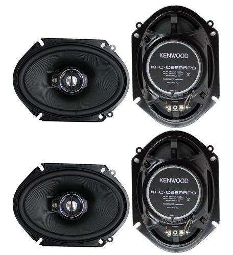 2 Pairs of Kenwood 6x8 360W 2-Way Coaxial Car Audio Speakers | (4 Speakers) + Free EMB Premium Headphone (Kenwood Component)
