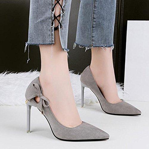Stiletto Lady Talons Pompes Shallow r Hauts Sexy Femmes Pour Cut Tip Chaussures Discothque Professionnel Ol Polaire Yr Gris Voyage Slim Cour C0qt8w5xq