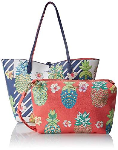 Para X Mujer navy Cm T Shoppers H 28x13x30 Desigual Y Hombro Bols Bolsos Capri De b Azul vx7qwa0q81