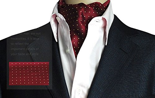 Mens Cravat Self Tie Woven Ascot Paisley Jacquard Luxury, One Size, Color 12 (Silk Ascot)