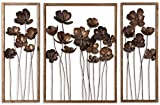 Grace Feyock 3 Pc Set Decorative Metal Tulips Wall Art