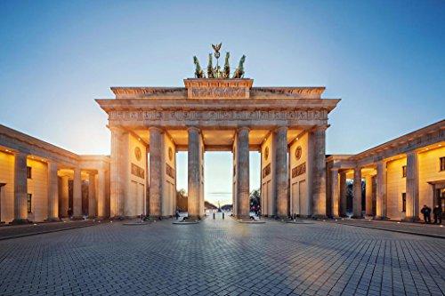 Brandenburg Gate at Sunset Berlin Germany Photo Art Print Poster 36x24 inch