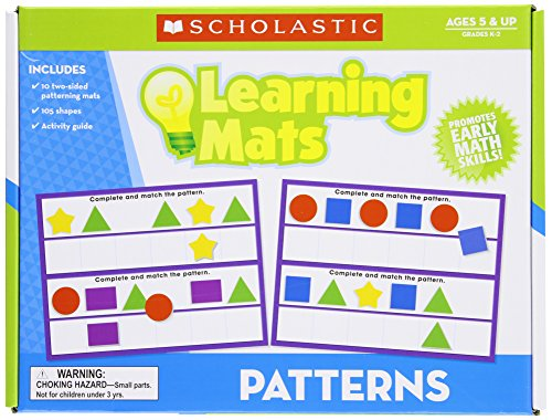 Scholastic Teacher's Friend Patterns Learning Mats, Multiple Colors (TF7103)