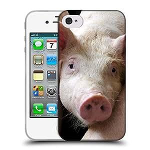 Super Galaxy Coque de Protection TPU Silicone Case pour // V00000280 Cerdo // Apple iPhone 4 4S 4G