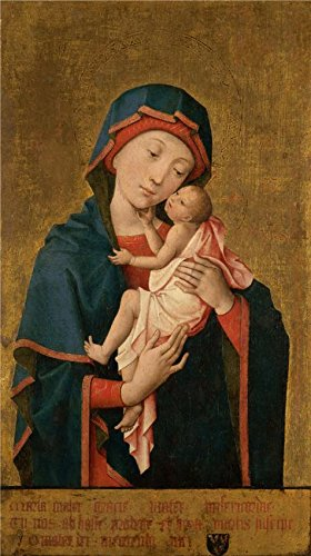 Oil Painting 'Hayne De Bruxelles,Virgin And Child,about 1454-1455', 18 x 32 inch / 46 x 82 cm , on High Definition HD canvas prints is for Gifts And Basement, Bath Room And Bed Room Decoration, (Framed Replica Line Up Card)