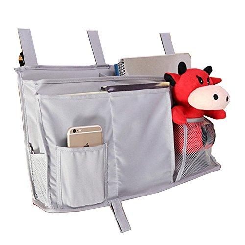 chris-wang 8bolsillos Bedside Caddy–Organizador de Almacenamiento Hanging para libros, tabletas, accesorio,...