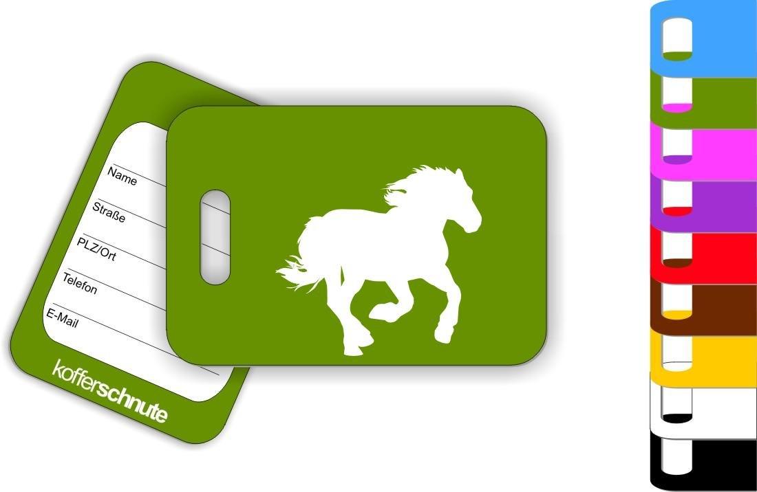 kofferschnute Pendentif Animaux Cheval Poney /étiquette de Bagage Pendentif de Sacs 70 mm x 100 mm Gruen