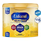 Enfamil NeuroPro Infant Formula - Brain Building Nutrition Inspired by Breast Milk - Reusable Powder Tub, 20.7 oz (Pack of 6): more info