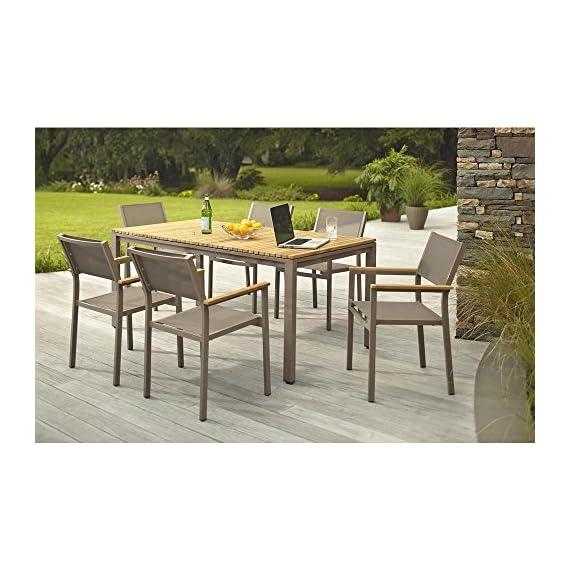 Hampton Bay Barnsdale Teak 7-Piece Patio Dining Set T1840+C2011 -  - patio-furniture, dining-sets-patio-funiture, patio - 513CgFIGvZL. SS570  -