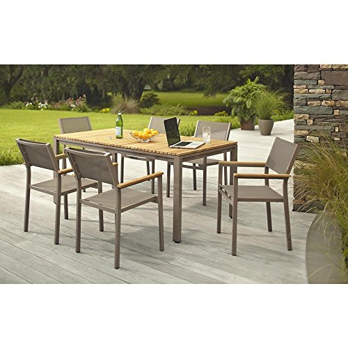 Hampton Bay Barnsdale Teak 7-Piece Patio Dining Set T1840+C2011
