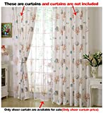 Aside Bside Rod Pocket Top Coral Fish Printed Breathable Window Decoration Ocean Style Sheer Curtains For Sitting Room Child Room and Houseroom (1 Panel, W 52 x L 63 inch, White)