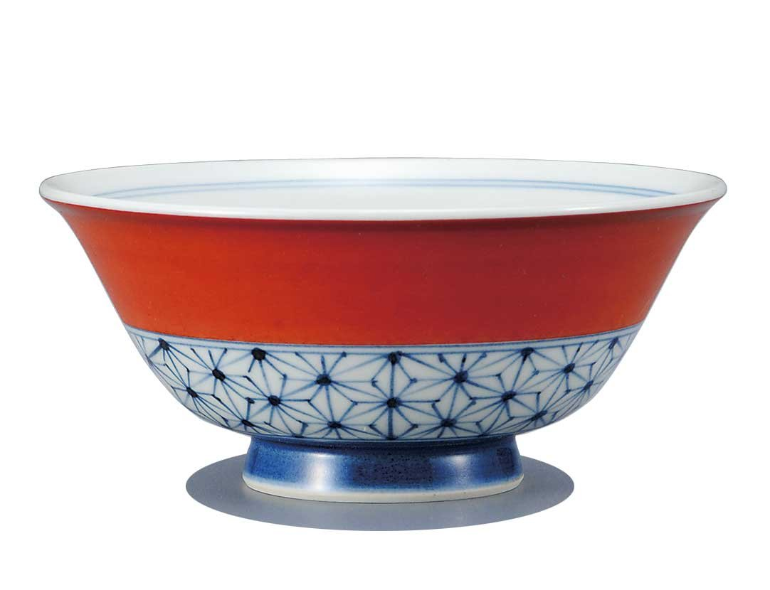 Japanese Rice Bowl flax-leaf KUTANI YAKI(ware)