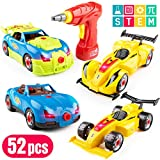 USA Toyz Race Car Take Apart Toys – 53pk Build a Car STEM Building Toys Set, Take Apart Car Building Kits for Kids w/ Car Drill Tool for Boys or Girls