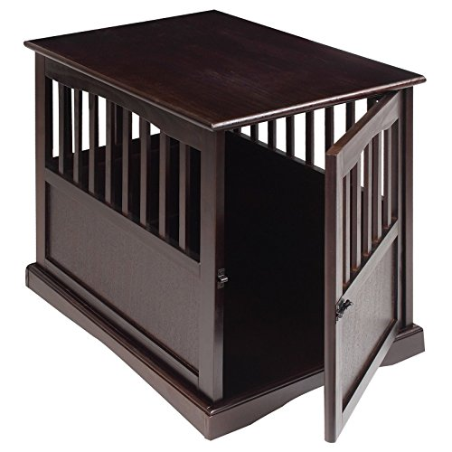 Dog Kennel Wood Bed Large Crate Oversized Pet Cage Wooden Furniture End Table