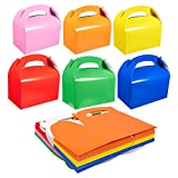 Pack of 24 Paper Treat Boxes - Gable Favor Boxes - Party Play Goodie Boxes - 2 Dozen Assorted Bright Colors Birthday Party Loot Gift Boxes - 24 Count - 6.2 x 3.5 x 3.5 Inches