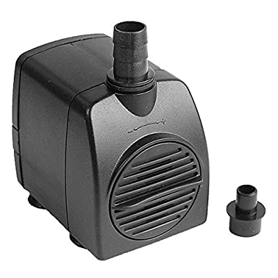 Uniclife 40-210 GPH Submersible Water Pump Aquarium Fish Tank Powerhead Fountain Hydroponic with 6ft UL Listed Power Cord