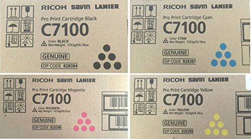 828384 828385 828386 828387 Genuine Ricoh Lot of 4 CMYK, Color Set Toner C7100