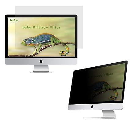 befon Premium - Filtro de privacidad y Protector de Pantalla para Ordenador portátil 431x240mm (19.5