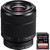 Sony SEL2870 FE 28-70mm F3.5-5.6 OSS Full Frame E-Mount Lens + Sandisk Extreme PRO SDXC 128GB Memory Card