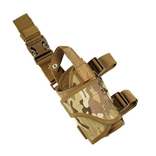 [Shootmy New Gen Right Tactical Leg Holster with Magazine Pouch] (Leg Gun Holster Costumes)