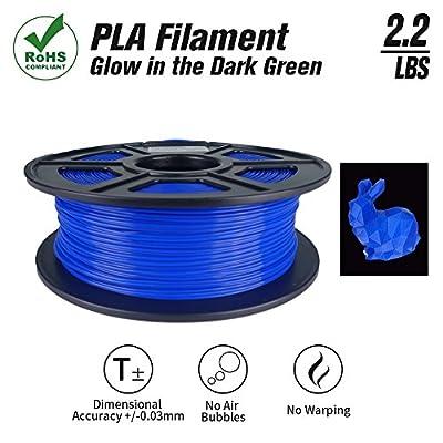 SunTop PLA 3D Printing Filament 1.75mm Navy Blue, Rohs Compliance, 1 kg Spool, Dimensional Accuracy +/- 0.03 mm