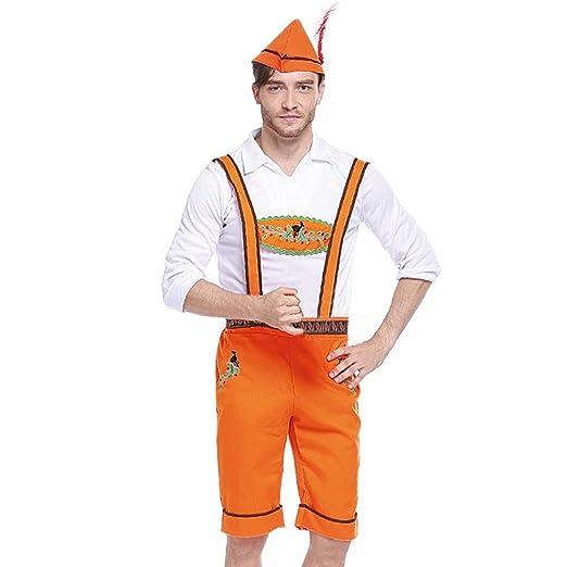 Amazon.com: STORTO - Traje de Oktoberfest bávaro con correa ...