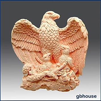 Majestic Águila con pollitos - detalle de alta alivio escultura - silicona jabón/arcilla de polímero de//Porcelana fría Mold: Amazon.es: Hogar