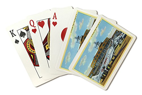 (New York City, New York - View of La Guardia Airport (Playing Card Deck - 52 Card Poker Size with Jokers) )