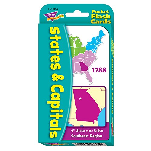 States & Capitals Pocket Flash Cards (List Of States And Capitals By Region)