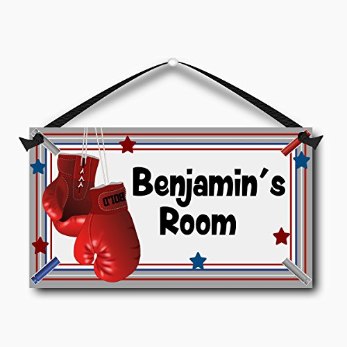 Boxing Gloves Kids Room Sign, Personalized Children
