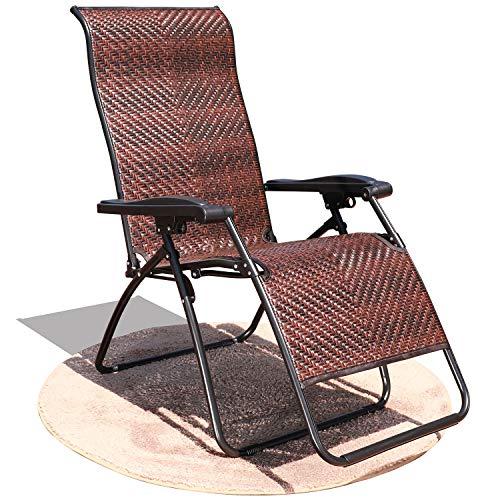 Amazon.com: GOLDSUN - Silla de mimbre reclinable y ajustable ...