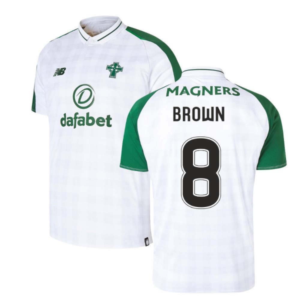 2018-2019 Celtic Away Football Soccer T-Shirt Trikot (Scott Braun 8)
