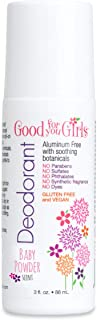 product image for Good For You Girls Aluminum Free Natural Deodorant (3 fl. oz) Kids, Teens, Tween, Vegan (Baby Powder Scent)