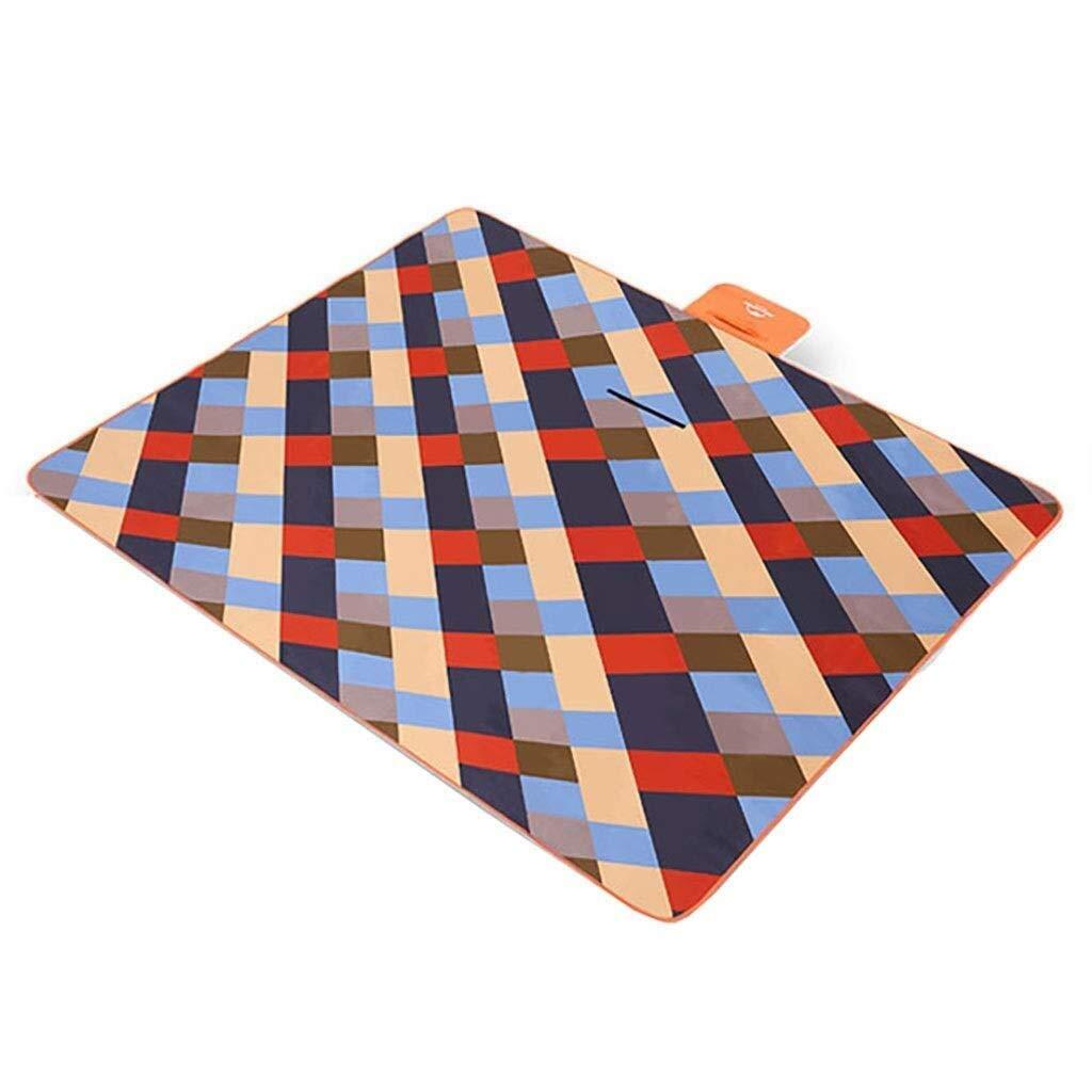 ZKKWLL Picnic Blanket Picnic mat Flocking Thick Waterproof mats Portable Outdoor mat Folding Spring Lawn mat Beach mat (Color : A) by ZKKWLL