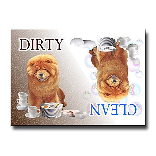 Chow Chow Clean Dirty Dishwasher Magnet