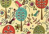 Folk Art Birds Note Cards (Stationery)