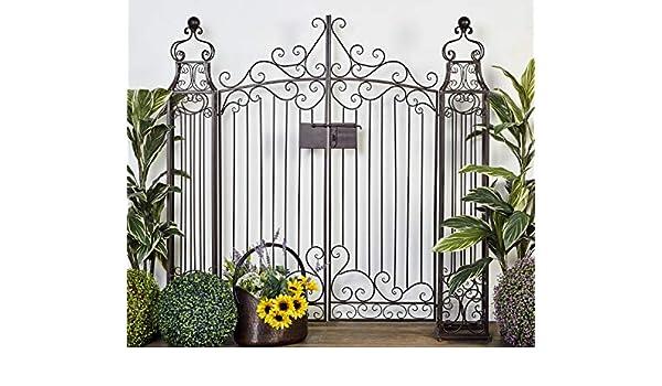 Deco 79 41391 Metal valla de jardín, 64 por 152,4 cm: Amazon.es: Hogar