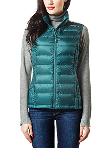 XPOSURZONE Women Packable Lightweight Down Vest Outdoor Puffer - Duck Down Vest
