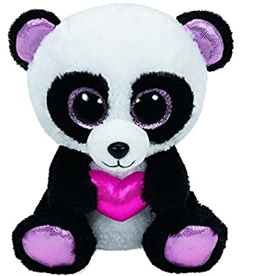 Ty Beanie Boos Cutie Pie The Panda with Heart Plush: Toys & Games