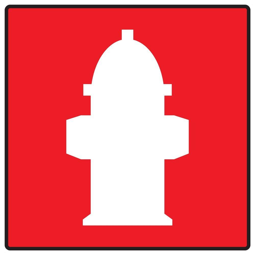 Amazon Compliancesigns Vinyl Fire Hydrant Symbol Label 6 X 6