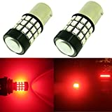 Alla Lighting 39-SMD High Power 2835 Chipsets Super Bright 7507 12496 BAU15S 1156PY PY21W Red LED Bulbs Lamps Replacement for Turn signal Blinker Light