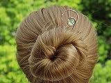 Handmade Gold Hair Clip Metal Hair Sticks Hair Pin Shawl pins Barrette for Women.