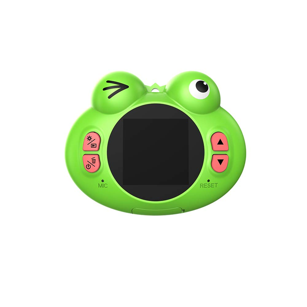 GordVE Digital Camera for Kids, Cute Cartoon Frog Design Portable Compact Anti-Shake Rechargeable with Games DIY Video Effects Kids Camera, 8X Digital Zoom Camera Flash Mic for Girls/Boy by GordVE (Image #9)