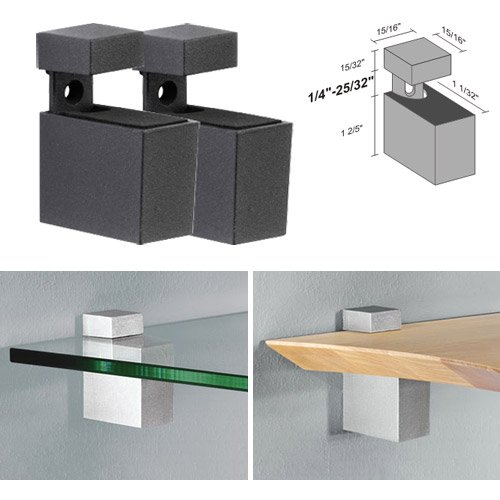 Dolle Cuadro Anthracite Adjustable Shelf Brackets for up to 3/4
